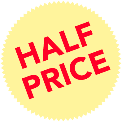 Half-price-badge